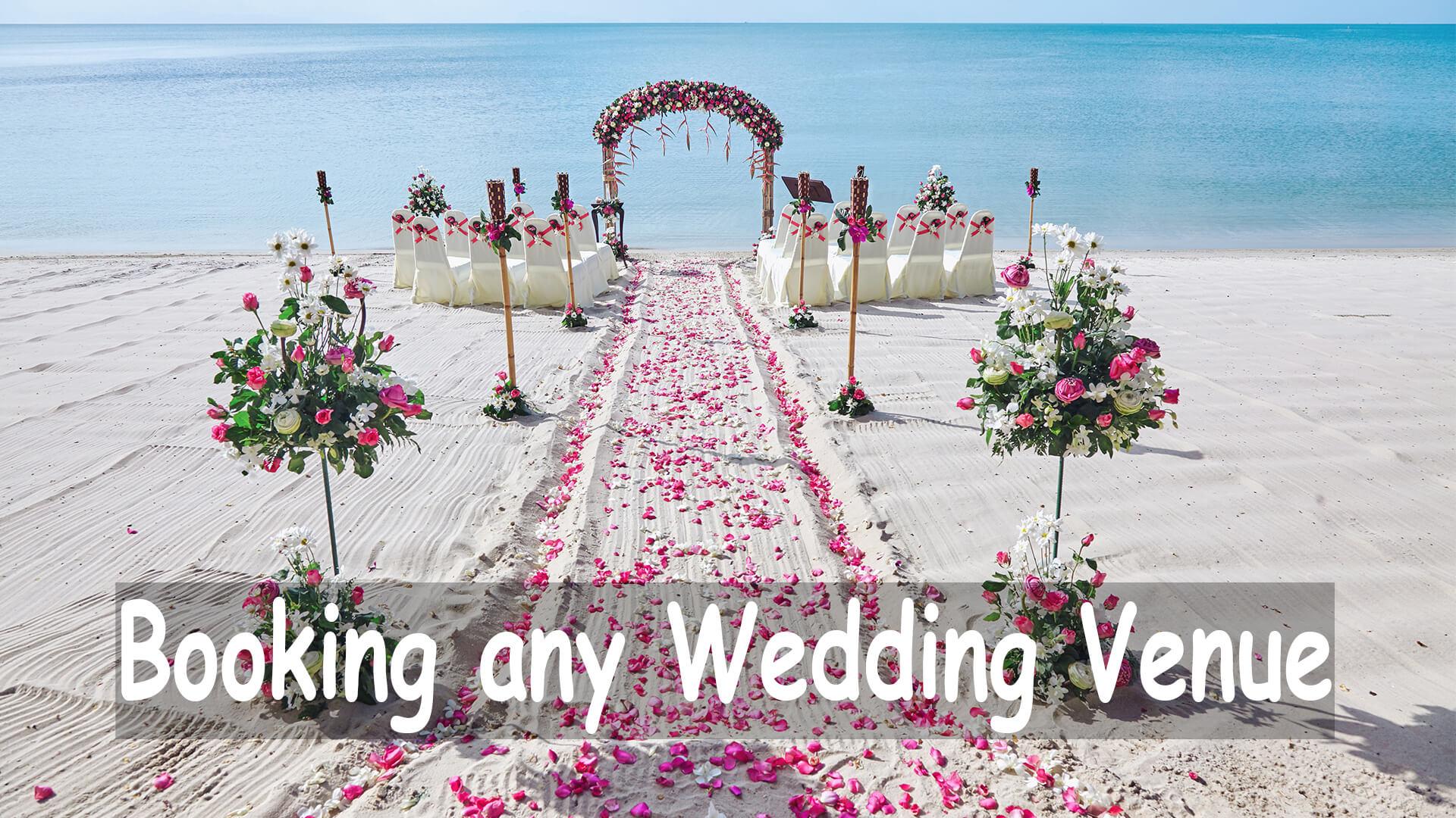 Booking any Wedding Venue