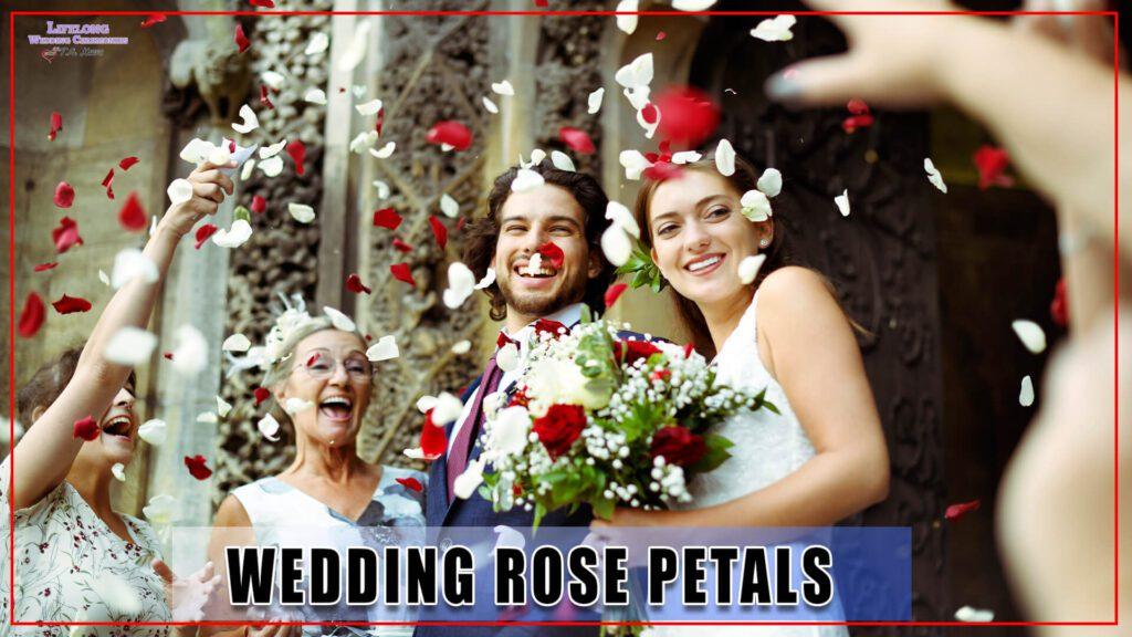Wedding rose petals